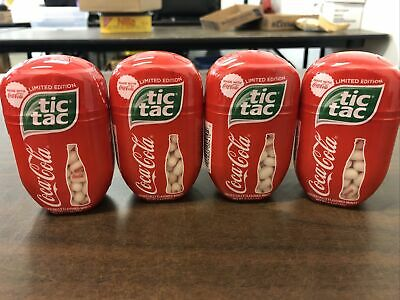 4! Brand New Coca Cola Flavored Tic Tac 3.4 Oz/200 Count Each LIMITED EDITION! • 15.27£
