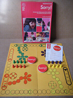Vintage  SORRY  Look, Learn & Play. By Waddingtons Games 1973. Complete. • 14.99£