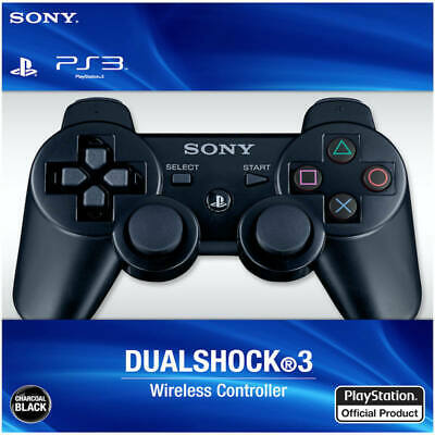 Black Sony PS3 Wireless DualShock 3 Game Controller GamePad For PlayStation 3 • 10.99£