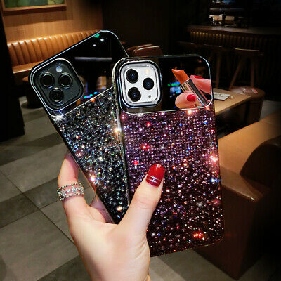 AU15.99 • Buy For IPhone 12 Mini 11 Pro XS Max XR 8 Girl's Mirror Gradient Bling Diamond Case