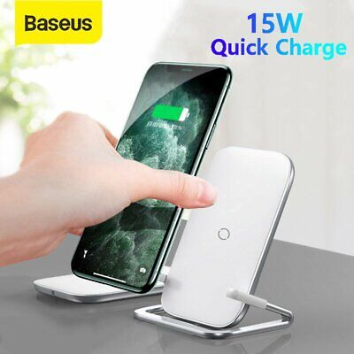 AU26.59 • Buy Baseus Qi 15W Wireless Charger Fast Charging Stand Dock For IPhone 11 X Samsung