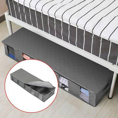 Large Capacity Under Bed Storage Bag Box 5 Compartments Clothes Organizer UK • 6.49£