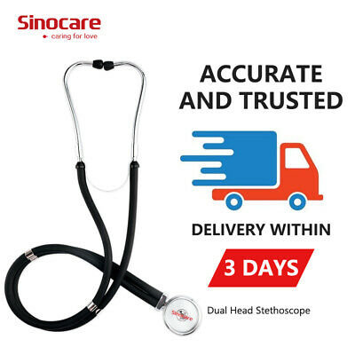 Sinocare Dual Head Stethoscope Medical EMT For Doctor Nurse Vet Student Adult UK • 8.49£