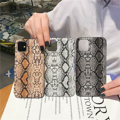 Luxury Snake Print Phone Case Hard Shell For IPhone 11 Pro Max 7 8 6s Plus XR XS • 3.99£