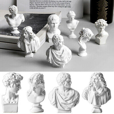 Famous Sculpture Plaster Bust Statue Greek Mythology Figurine Gypsum Portrait • 4.02£