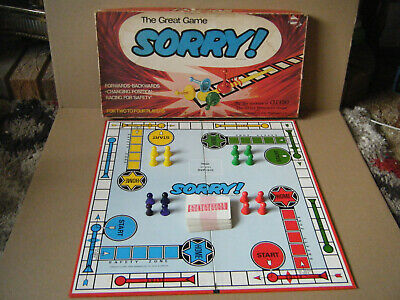 Vintage  SORRY  Family Board Game. By Waddingtons Games 1969. See Description. • 17.99£