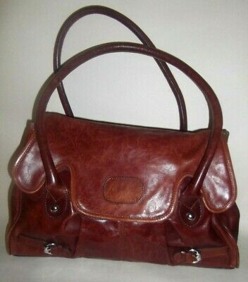 LADIES VINTAGE M&S Autograph LEATHER SHOULDER HANDBAG  BAG • 9.95£