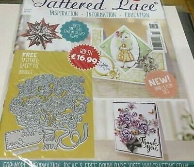 Tattered Lace ~ ISSUE 61 Magazine With FREE BOUQUET DIE  ~ NEW  FREE P&P  • 8.50£