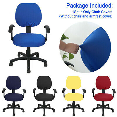 AU18.63 • Buy Office Computer Chair Covers Rotate Swivel Seat Cover Slipcovers Protector AU