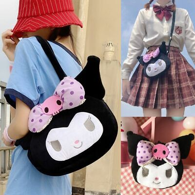 Sanrio License KUROMI Crossbody Bag Messenger Bag Black Cute My Melody 3 Style • 9.99£
