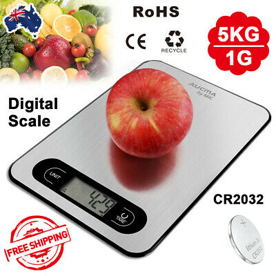 AU13.91 • Buy 1g-5kg Kitchen Digital Scale Electronic Balance Food Weight Postal Scales LCD