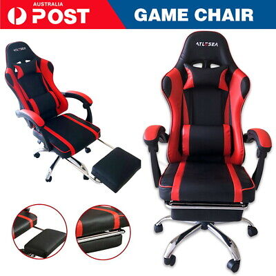 AU134.99 • Buy Gaming Chair Office Seating Racing Computer PU Leather Executive Racer Footrest