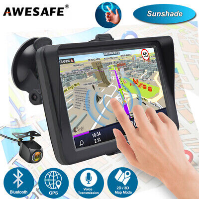 AU92.99 • Buy 7 AWESAFE A2 GPS Navigator Car Bluetooth Navigation With Sunshade Reverse Camera