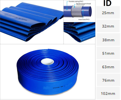 £151.02 • Buy PVC Layflat Hose Pipes Water Delivery Discharge Irrigation Lay Flat 4 BAR Rated