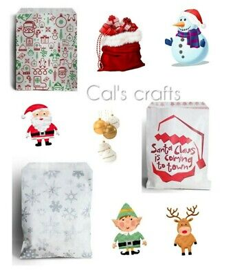 £2.75 • Buy  Christmas Characters Paper Counter Bags Santa Snowflake Christmas Party 2 SIZES