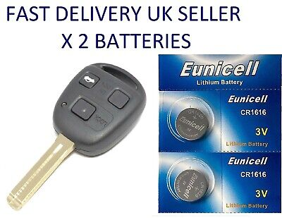 2 X Car Key Fob Remote Batteries Gs300 Is200 Is300 Is220d Cr1616 • 1.99£