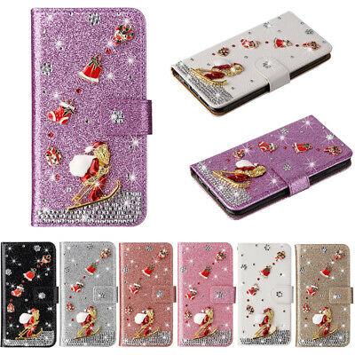 AU9.99 • Buy For IPhone 13 12 11 Pro Max XR Bling Diamond Christmas Gift Wallet Leather Case