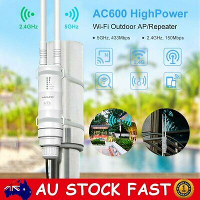 AU69.99 • Buy 2.4/5Ghz 300Mbps High Power Outdoor WIFI Router Repeater Extender Signal Booster