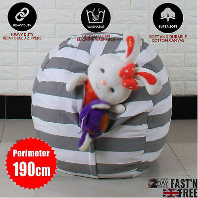 EXTRA LARGE Stuffed Animal Toy Storage Bean Bag Bean Cover Soft Seat • 6.69£