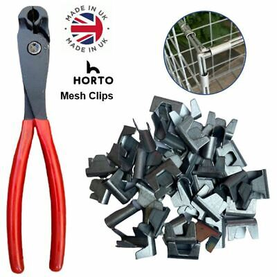 £9.55 • Buy WIRE MESH CLIPS (Large) Gabions, Cage Making, Mesh Panels *UK MADE* Clips CT35