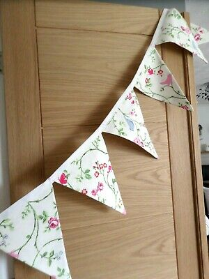 Lovely Homemade Floral / Birds/ Butterfly Bunting - 2 Metres • 8.99£