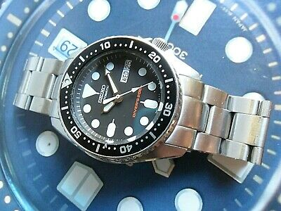 $ CDN160.60 • Buy Clean S/S Men's Seiko Automatic Diver's 200M Day Date Watch 7S26-0030 Runs