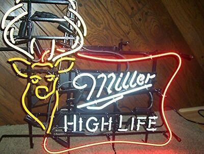 $283.99 • Buy Miller High Life Outdoors Deer Stag Buck 24 X20  Neon Sign With Dimmer
