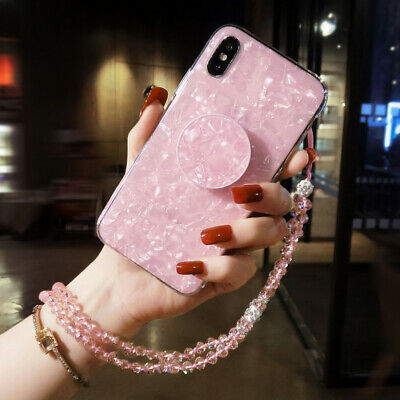 AU17.69 • Buy For IPhone 12 11 Pro Max XS XR 7 8 Girl's Marble Crystal Holder Stand Case Cover