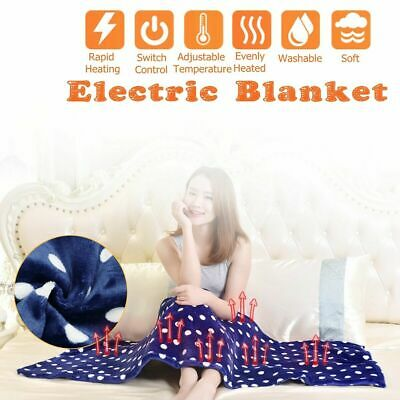 £13.39 • Buy Electric Heated Throw Over Under Blanket Flannel Washable Warm Mattress Control