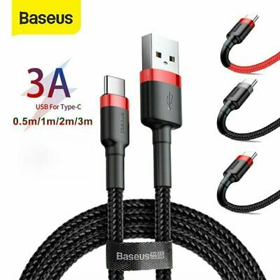 AU5.49 • Buy Baseus USB Type C Data&Charger Fast Charging Cable For Samsung Huawei Xiaomi 3m