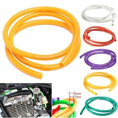 Petrol Fuel Hose Gasoline Pipe Universal 1M Motorcycle Tube Rubber 5mm I/D 8mm • 3.69£