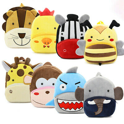 AU16.99 • Buy Kids Outdoor Backpack Cute Small Toddler Backpack 3D Animal Cartoon Mini Bags