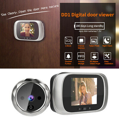 LCD Digital Doorbell 0.3MP IR Electronic Door Peephole Camera With Night Vision • 22.09£