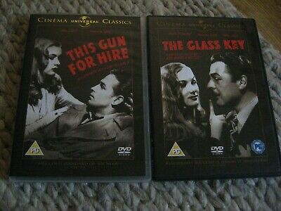 2-Films - The Glass Key / This Gun For Hire (DVD 2-Disc Set 1940s Noir Alan Ladd • 1.99£