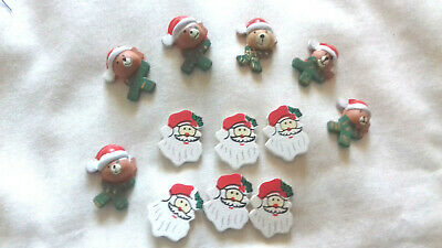 Christmas Xmas Decorations For  Craft, Card-making & Decoration 12 Pcs • 1£