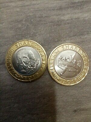 Rare 2 Pound Coins William Shakespeare 2016 • 6£