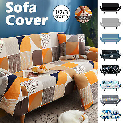 AU20.59 • Buy 1 2 3 Seater Stretch Sofa Cover Slipcover Couch Lounge Recliner Chair Protector