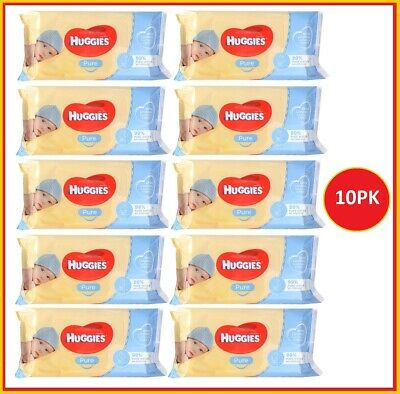 AU34 • Buy 10 X Huggies Pure Baby Wipes Unscented PK56 (560 Wipes)