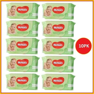 AU34 • Buy 10 X Huggies Baby Wipes Natural Care Sticky Top Pk56 (560 Wipes)