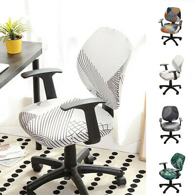 AU7.28 • Buy Elastic Stretch Office Chair Seat Covers Slipcovers Case Computer Removable Home