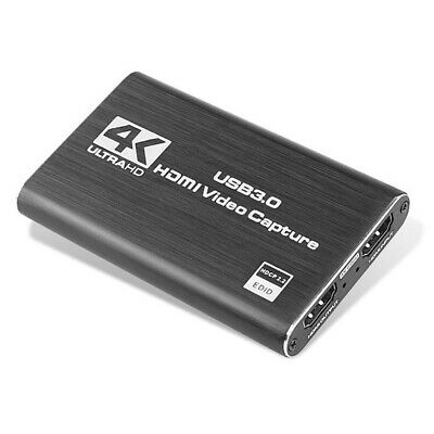 4K HDMI To USB 3.0 Video Capture Card Record Box With Loop Out Mic Input 7E • 37.22£