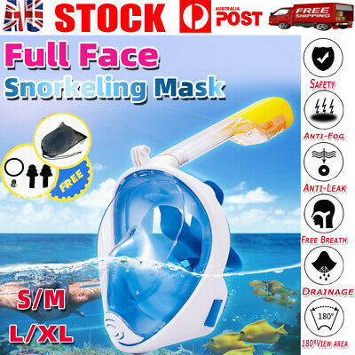 AU20.88 • Buy AU Full Face Diving Seaview Snorkel Snorkeling Mask Swimming Goggles For GoPro