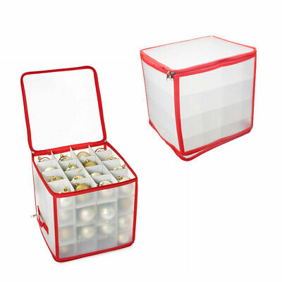 Set Of 64 Baubles Christmas Tree Storage Decoration Bags Organiser Storage Box • 10.99£