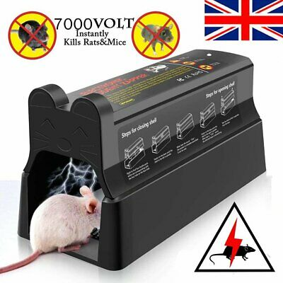 New Electronic Mouse Rat Rodent Killer Electric Zapper Trap Pest Control Uk Plug • 27.89£