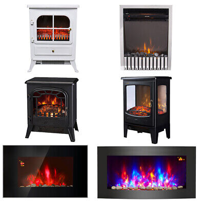 Modern Electric Fireplace Heater LED Flame Effect Stove Fire Place Living Room • 123.97£