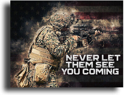 $9.95 • Buy Military Motivational Poster Art Print 11x14 Army US Marines Infantry Tank