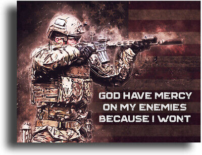 $9.95 • Buy Military Motivational Poster Art Print 11x14 Army US Marines Infantry Mercy