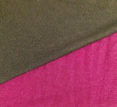 Thin Stretch Viscose Sweater Knit Jersey Fabric- Sold By The Metre • 4.72£