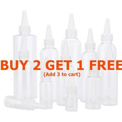 Empty Refillable Plastic Bottles For Gel,perfume&hand Wash Squeeze Travel Bottle • 4.28£