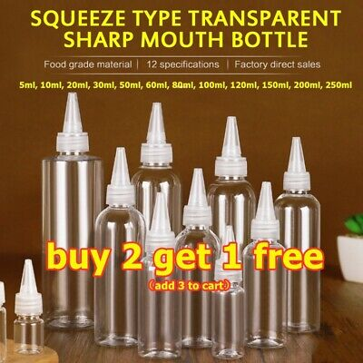 Squeeze Empty Refillable Plastic Bottles, For Gel,Lotion,Travel Bottle (5-200ml) • 4.69£